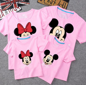 Summer Family Matching Outfits Mommy Daddy Kid Son Baby T-Shirt Shirts Family Clothes Child Mickey Minnie Tops Photography - amalkids