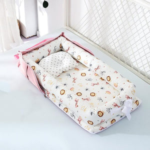 Baby Crib Portable Crib  Foldable  Newborn Sleeping Bed Cushion Cotton Nest Baby Bedding Basket Bumpers YHM030 - amalkids