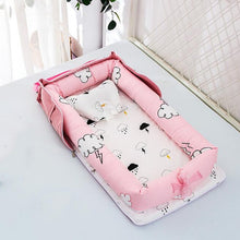 Load image into Gallery viewer, Baby Crib Portable Crib  Foldable  Newborn Sleeping Bed Cushion Cotton Nest Baby Bedding Basket Bumpers YHM030 - amalkids