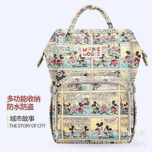 Load image into Gallery viewer, Disney fashion diaper bag travel mother and kid backpack large capacity multi-functional waterproof Mickey Minnie Mommy bag - amalkids