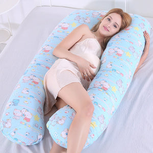 Pregnancy pillow Support Pillow For Pregnant Women Body Cotton Pillowcase U Shape Maternity Pillows Pregnancy Side Sleepers - amalkids
