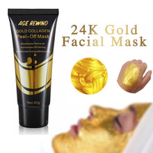 Load image into Gallery viewer, 24K Gold Collagen Facial Mask Anti Aging Whitening Wrinkle Lifting firming to blackheads Smooth Tear Peel Off Masks Skin Care