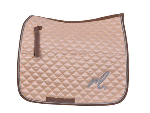 Gilded in gold - Satin dressage pad