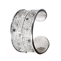 Diamond Double Waffle Cuff - Joan Hornig Jewelry