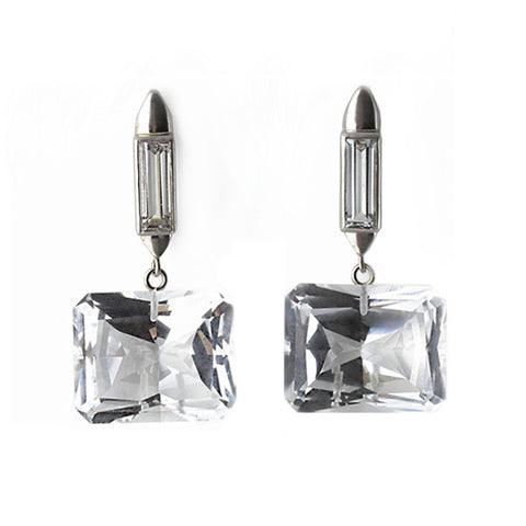 Duke Earrings - White Gold