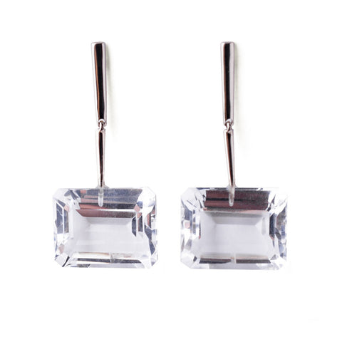 Reverse Georgette Earrings - White Gold