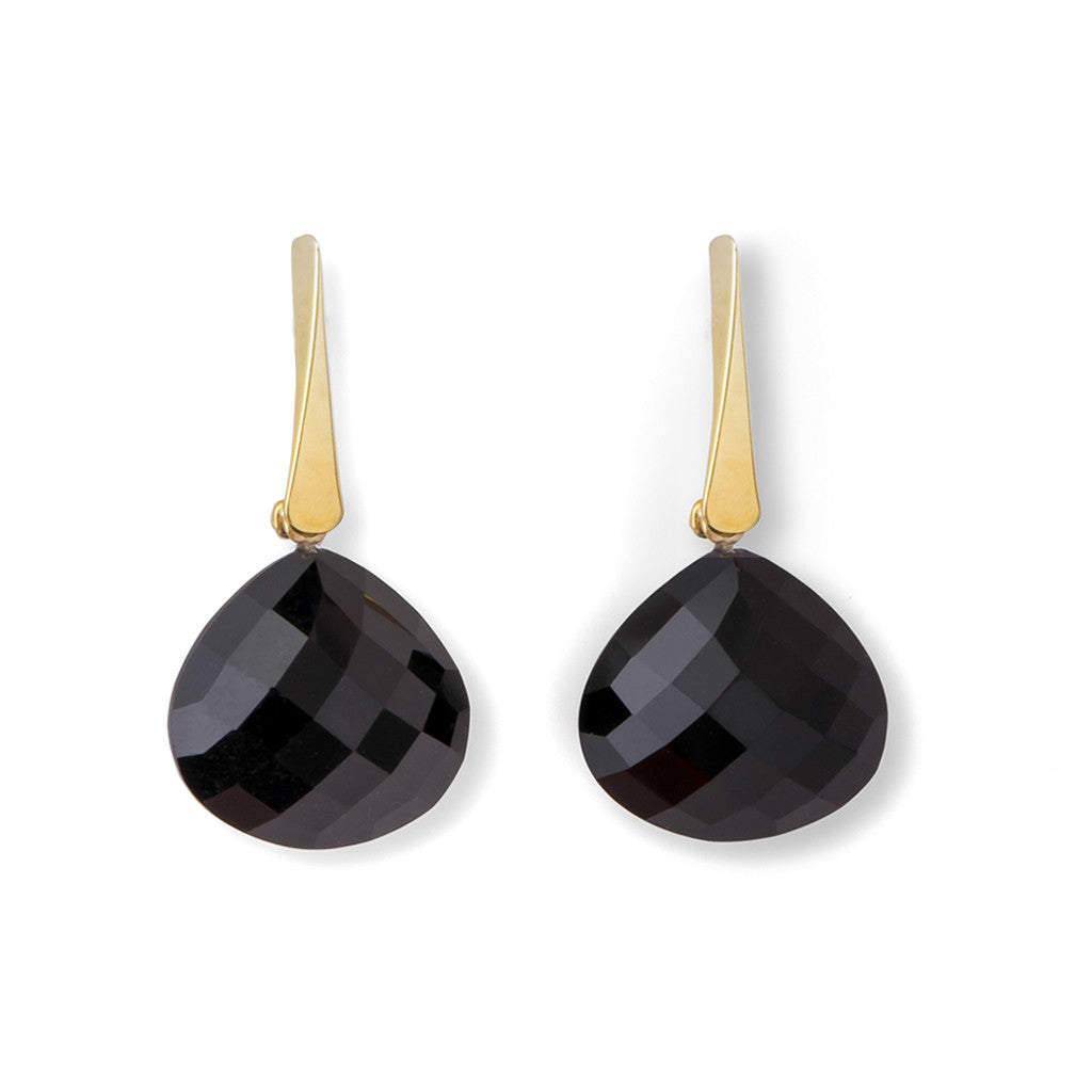 Vermeil Onyx Knotting Way Earrings - Joan Hornig Jewelry