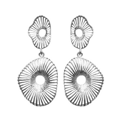 Mushroom Gill Earrings - Sterling Silver - Joan Hornig Jewelry