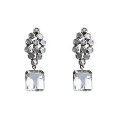 White Topaz Marquise Earrings