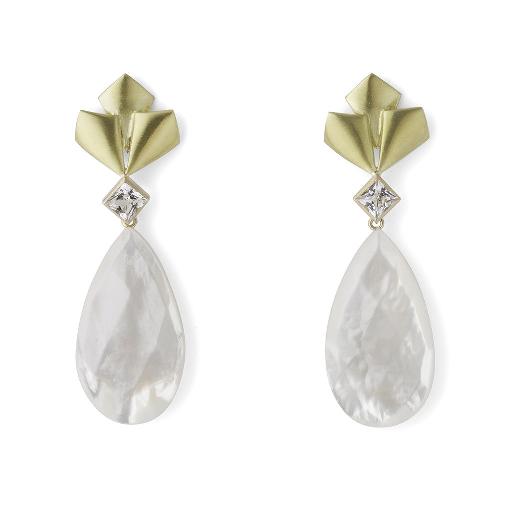 Barrymore Earrings with Pearl Drops - Joan Hornig Jewelry