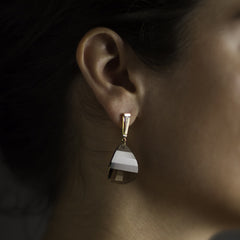 White Taper Earrings