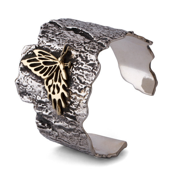 Small Butterfly Bark Cuff - Joan Hornig Jewelry