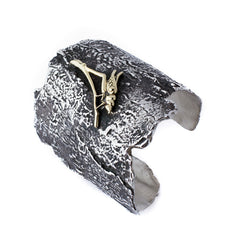 Grasshopper Bark Cuff - Joan Hornig Jewelry