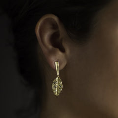 Rhubarb Earrings - Joan Hornig Jewelry