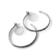 White Tahini Hoop Earrings - Joan Hornig Jewelry