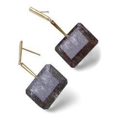 Reverse Georgette Earrings - Gold - Joan Hornig Jewelry