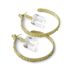 Tahini Dip Hoop Earrings - Joan Hornig Jewelry