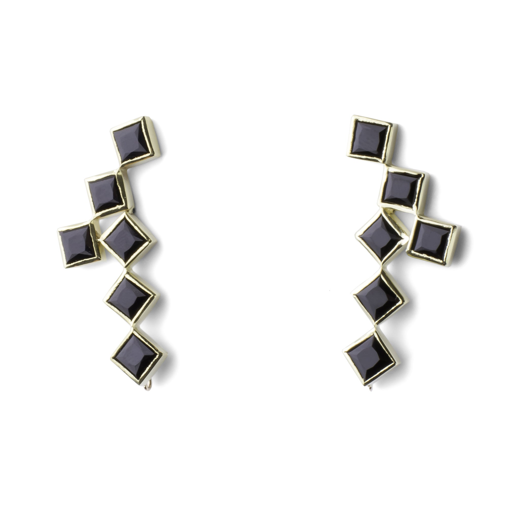 Crosswalk Earrings - Black Onyx - Joan Hornig Jewelry