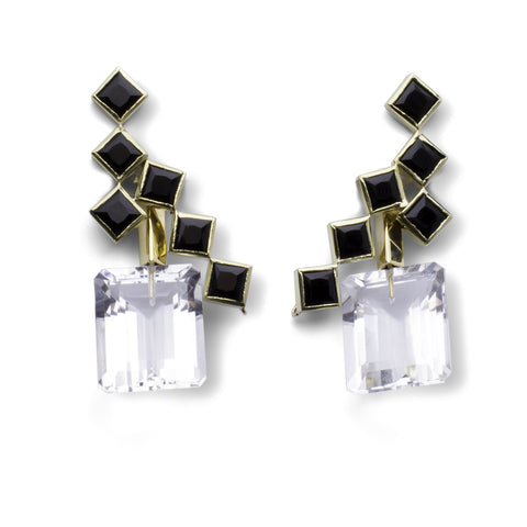 57th Street Earrings - Black Onyx
