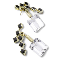 57th Street Earrings - Black Onyx - Joan Hornig Jewelry