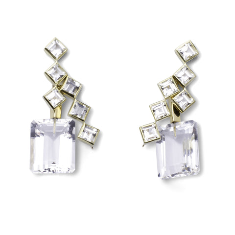 57th Street Earrings - Rock Crystal