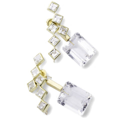 57th Street Earrings - Rock Crystal - Joan Hornig Jewelry