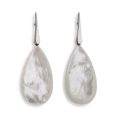 Knotting Way Earrings with Mother of Pearl Drops - Joan Hornig Jewelry