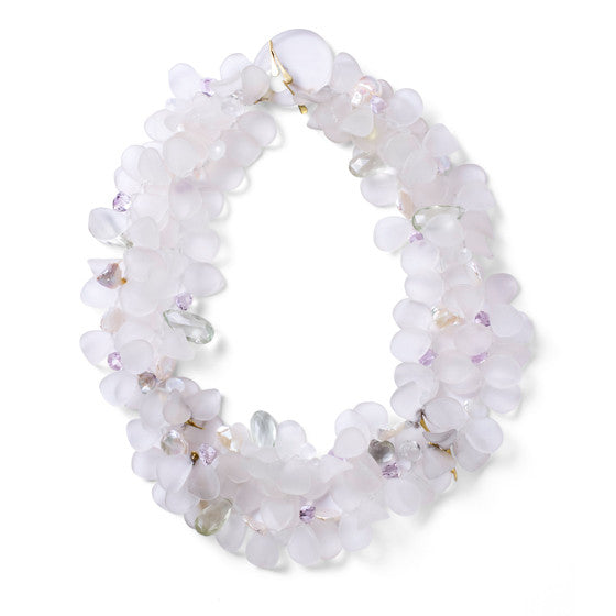 Frosted Quartz Petal Necklace - Joan Hornig Jewelry