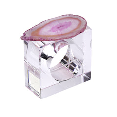 2 Piece Agate Napkin Ring Set - Joan Hornig Jewelry