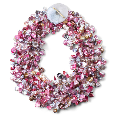5-Strand Pink Keshi Pearl Necklace