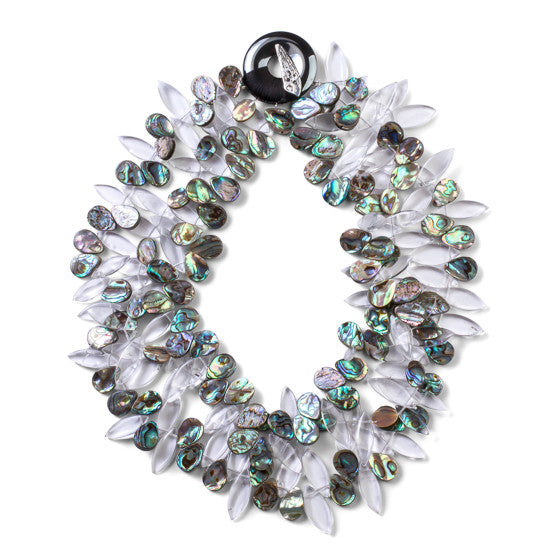 Abalone Multi-Strand Necklace - Joan Hornig Jewelry