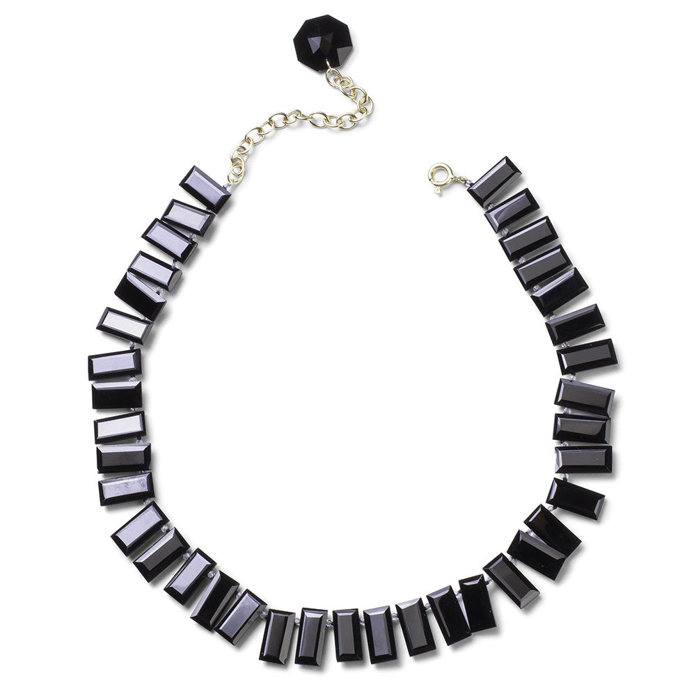 Onyx Piano Key Choker - Joan Hornig Jewelry