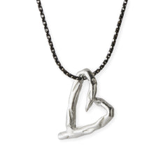 Asparagus Heart Necklace - Joan Hornig Jewelry