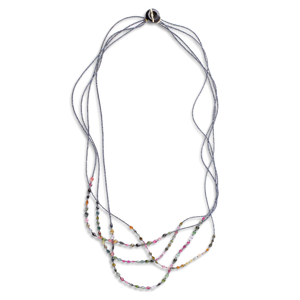 4-Strand Tourmaline Necklace - Joan Hornig Jewelry