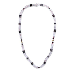 Onyx & Sapphire Piano Key Necklace - Joan Hornig Jewelry