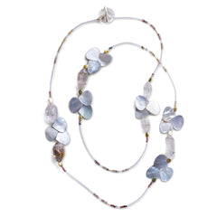 Mother of Pearl & Quartz Butterfly Necklace - Joan Hornig Jewelry