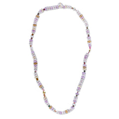 Pink Amethyst Piano Key Necklace - Joan Hornig Jewelry