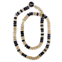 Citrine & Onyx Piano Key Necklace - Joan Hornig Jewelry