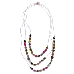 3-Strand Tourmaline Necklace - Joan Hornig Jewelry