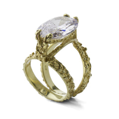 Double Tahini Rock Ring - Joan Hornig Jewelry