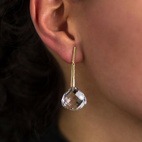 Georgette Earrings - White Gold