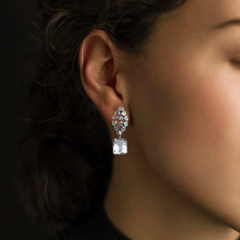 White Topaz Marquise Earrings - Joan Hornig Jewelry