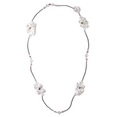 Mother of Pearl & Tourmaline Butterfly Necklace - Joan Hornig Jewelry