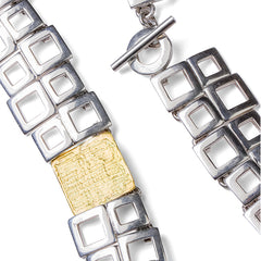 Squares Necklace & Belt - Joan Hornig Jewelry