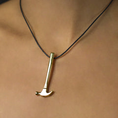 Securing the Future - Brass - Joan Hornig Jewelry