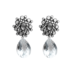 Stone Bubble Earrings - Joan Hornig Jewelry