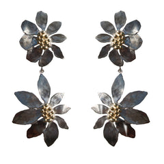Flora Clip-on Earrings with Detachable Flower Drops