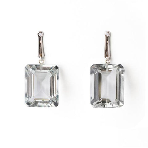 Georgie Earrings -  White Gold