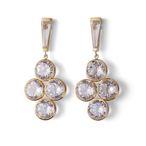 Debbie Earrings - White Topaz