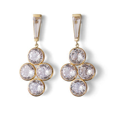 Debbie Earrings - White Topaz - Joan Hornig Jewelry